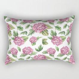 Pink coloured peony Rectangular Pillow