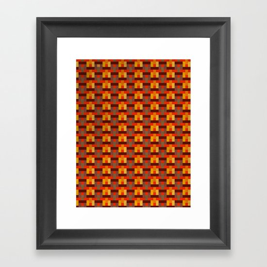 Woven Pixels I Framed Art Print