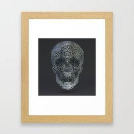Snake Skull Framed Art Print