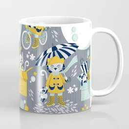The cat who loves rainy nights Coffee Mug