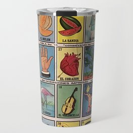Mexican Bingo Loteria Travel Mug