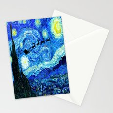Starry Christmas Stationery Cards