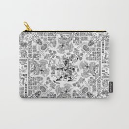 Mayan Spring B&W Carry-All Pouch