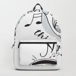 French Horn |Music Heals Things Life Never Will Backpack