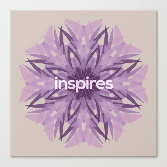 Inspires Canvas Print