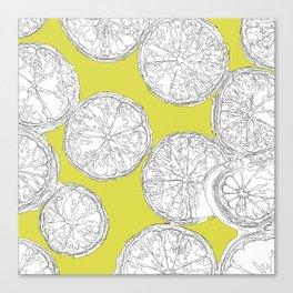 Extra Trendy Limes Canvas Print