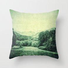Vintage Landscape  - JUSTART © Throw Pillow