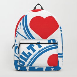 """A Hearty Tee For Lovers Saying """"Guilty Of Stealing Hearts"""" T-shirt Design Love Relationship Backpack"""
