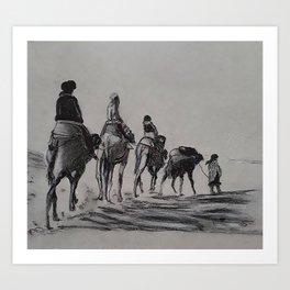camel row Art Print
