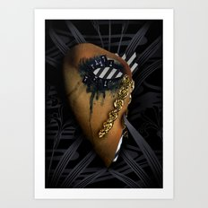texting and crying... crying and texting Art Print