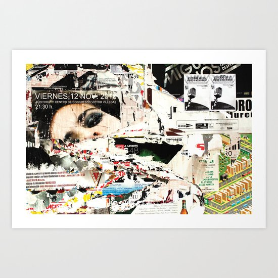 Collide 1 Art Print