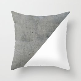 Concrete Vs White Throw Pillow