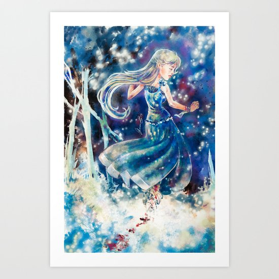 Empty Blue Art Print