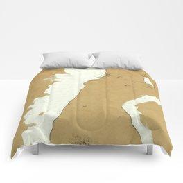 "Egon Schiele ""Female Nude with White Border"" Comforters"