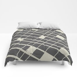 Grid in Black Comforters