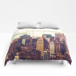 New York City Skyline Colors Comforters