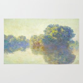 The Seine at Giverny Claude Monet 1897 Impressionist Oil Painting Nature Trees Lake Landscape Rug