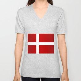 Flag of Denmark Unisex V-Neck