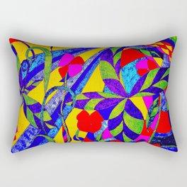 dancing garden in multicolor Rectangular Pillow