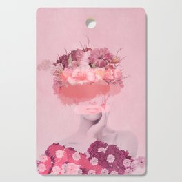 Woman in flowers Cutting Board