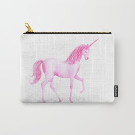 Watercolor Pink Unicorn Carry-All Pouch