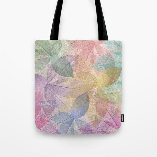 Colored Leaf Pattern Tote Bag
