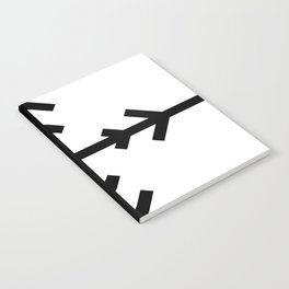 Black and White Arrow Cross 2 Notebook