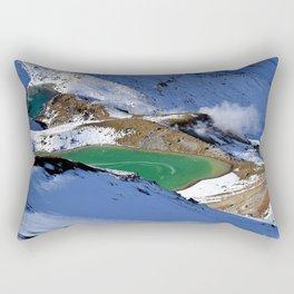 Tongariro lake view 2 Rectangular Pillow