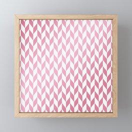 Elegant geometrical rose gold white pattern Framed Mini Art Print