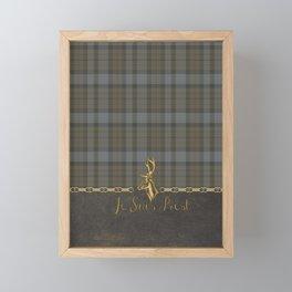 JE SUIS PREST TARTAN LEATHER Framed Mini Art Print