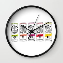White Claw illustration Wall Clock