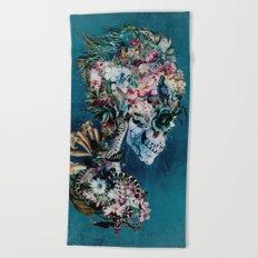 Floral Skull RP Beach Towel
