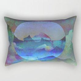 Opalescent Ocean Moon Watercolor Rectangular Pillow