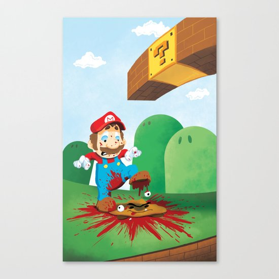 Mario Mess Canvas Print