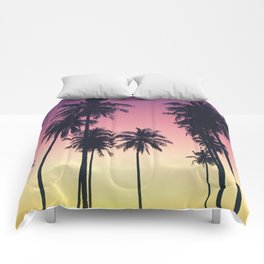 Palmtrees Sunset Comforters