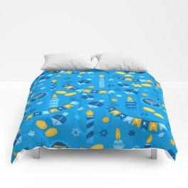 Happy Hanukkah Banner Pattern Comforters