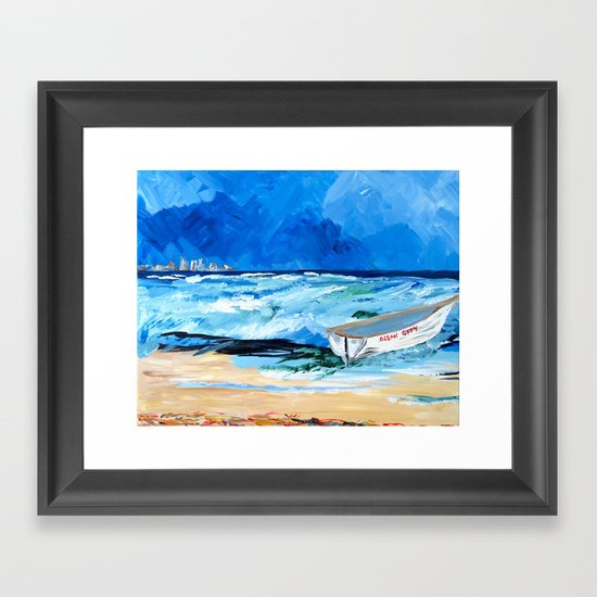 Ocean City Summer Framed Art Print