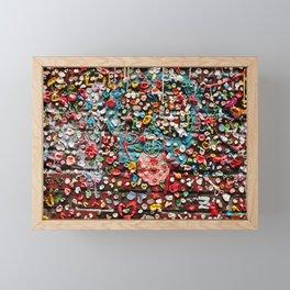 Gum Wall Framed Mini Art Print