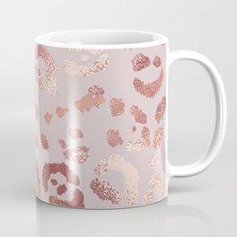 Glittering Copper Rose Gold Leopard Metallic Print  Coffee Mug