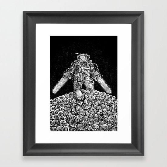 Texas Chainsaw Astronaut: New Moon Framed Art Print