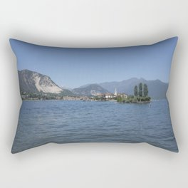 Panoramic view of Fishermen Island on Lake Maggiore, Italy Rectangular Pillow
