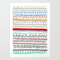 Rad pattern, cool pattern, pattern design, Art Print