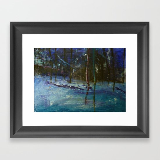 We got caught in a blizzard.. Framed Art Print