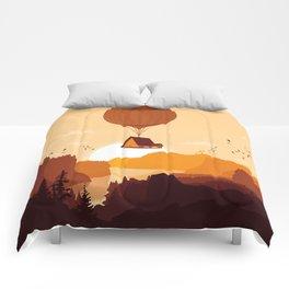 Flying House Comforters