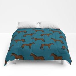 Bay Horse breed farm animal pet pattern horses Comforters