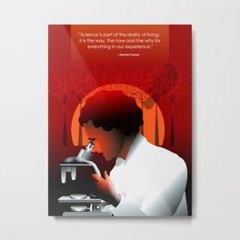 Rachael Carson, Heroes of STEM Metal Print