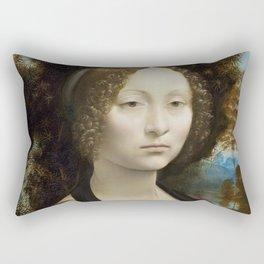 Ginevra de' Benci by Leonardo DaVinci a.k.a Do I look like i care, babe? Rectangular Pillow