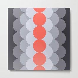Gradual Living Coral Metal Print