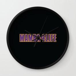 Mamba Lives Forever Wall Clock