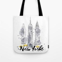 Watercolor New York buildings Tote Bag